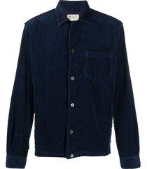 aspesi corduroy cotton shirt - blue