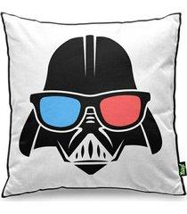 almofada personalizada geek side - lado geek da força vader e stormtrooper