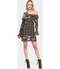 vestido assimétrico em tecido magnolia - lez a lez