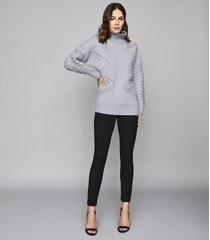 reiss tyne - skinny trousers in black, womens, size 0r