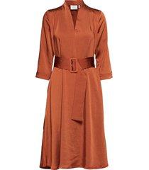 kamryngz dress ma19 jurk knielengte oranje gestuz