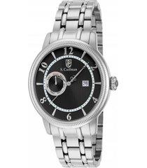 reloj scoifman sc0195 plateado acero inoxidable