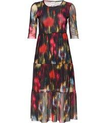 j s jurk knielengte multi/patroon baum und pferdgarten