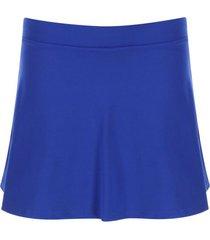 falda deportiva unicolor color azul, talla xxl
