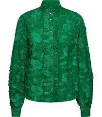 etta blouse lange mouwen groen custommade