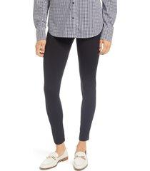 plus size women's hue control high waist pique leggings, size 3 x - black