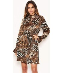 ax paris women's animal print high neck skater dress