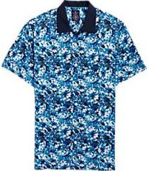 construct blue floral camp shirt