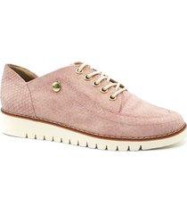 zapato  bolichero zavatty rosa para mujer, modelo ta451
