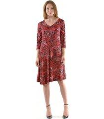vestido mary cebra rojo bous