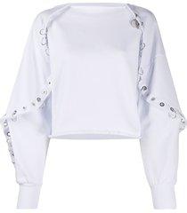 diesel cape-effect sweatshirt - white