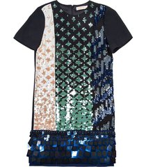 dress with multicolored sequins design