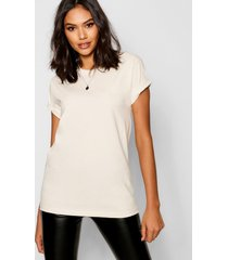 basic oversized boyfriend t-shirt, ecru