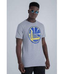 camiseta nba especial estampada golden state warriors cinza - cinza - masculino - dafiti