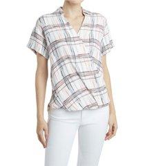 jones new york women's printed crossover top