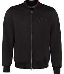 alexander mcqueen embroidered wool bomber jacket