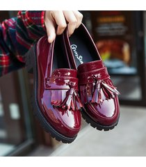 pp380 cute cuban pump with fringes top us size 6-8.5 burgundy