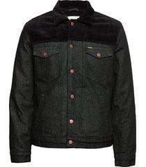 sherpa jacket black jeansjack denimjack blauw wrangler