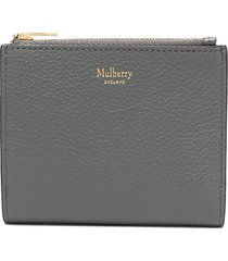 mulberry zipped wallet - grey