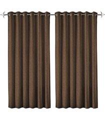 cortina em poliéster com ilhos em metal rocca taupe 400x230cm