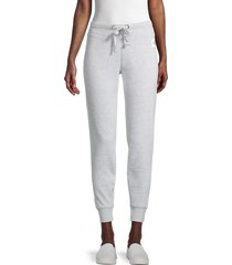 calvin klein jeans women's logo patch joggers - grey heather - size m