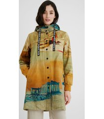 100% cotton hooded parka - yellow - xl