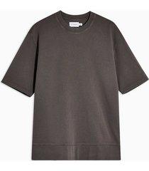 mens washed grey short sleeve sweatshirt