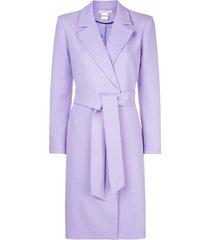 alice+olivia irwin belted coat - purple
