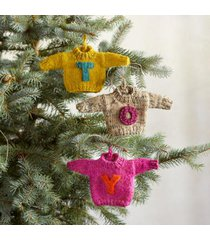 sundance catalog women's letter sweater ornaments