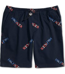 "tommy hilfiger adaptive men's signature regular-fit 9"" shorts with one-handed drawstring"