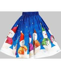 plus size christmas knee length skirt