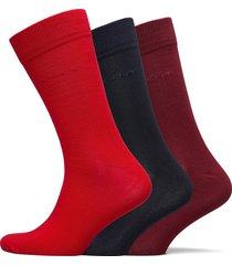 soft cotton socks 3-pack underwear socks regular socks röd gant