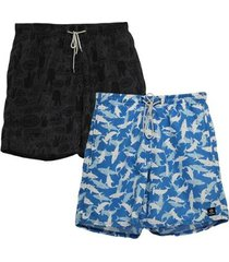 kit 2 shorts dooker summer masculino