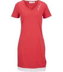 abito di jersey 2 in 1 a maniche corte (rosso) - john baner jeanswear