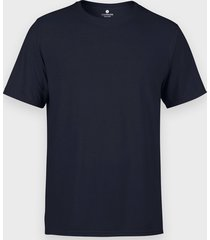 męska koszulka (bez nadruku, gładka) - granatowa