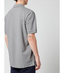 ps paul smith men's zebra logo regular fit polo shirt - grey melange - s
