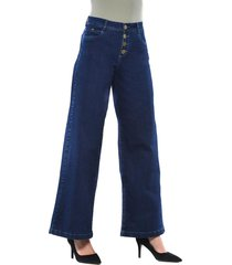jeans tiro alto culotte 3232 azul amalia jeans