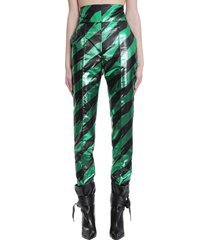 alexandre vauthier pants in green polyester