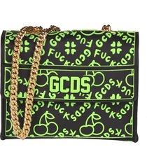 gcds logo all-over shoulder bag