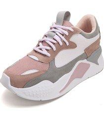 tenis moda dama sneakers blanco*piel tellenzi 447