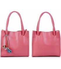 donna casual retro borsa a mano tote bag in colore di caramelle