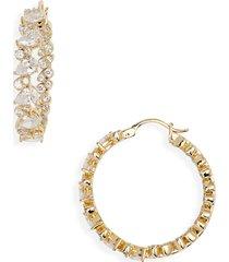 women's nadri chloe inside out hoop earrings