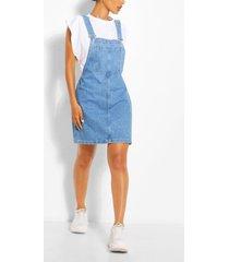 pinafore spijkerjurk met zakken, mid blue