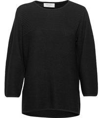 fqnadja-pu stickad tröja svart free/quent