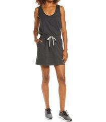 zella gwen ponte knit tank dress, size large in grey dark heather at nordstrom