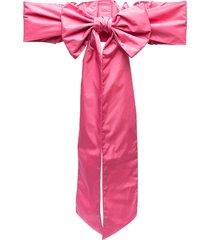 red(v) bow-detail belt - pink