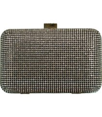 crystal yves minaudiere box clutch