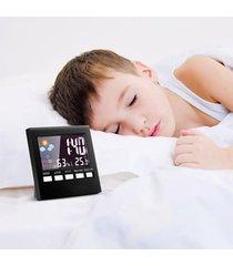 reloj despertador digital interior / exterior higrómetro-