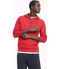 tommy hilfiger men's essential solid popover hoodie apple red - xxl