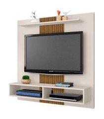 painel gama p/ tvs até 47 polegadas off-white/ripado móveis bechara